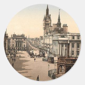 Vintages Aberdeen - Gewerkschafts-Straße Runder Aufkleber