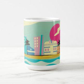 Vintages Achtzigerjahre Miami-Plakat Kaffeetasse