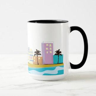 Vintages Achtzigerjahre Miami-Plakat Tasse