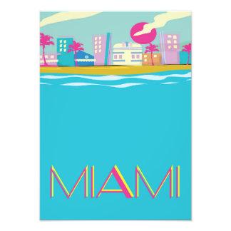 Vintages Achtzigerjahre Miami-Reiseplakat Fotodruck