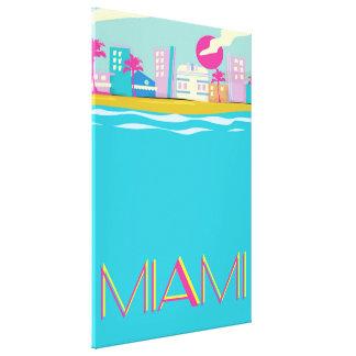 Vintages Achtzigerjahre Miami-Reiseplakat Leinwanddruck
