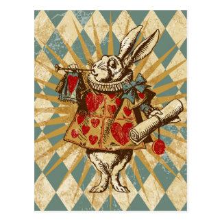 Vintages Alice-Weiß-Kaninchen Postkarten
