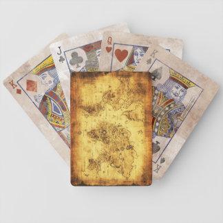 Vintages alte Weltkarten-Designer-Set Poker Karten