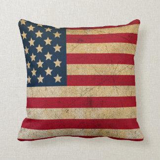 Vintages amerikanische Flaggethrow-Kissen Kissen