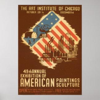 Vintages amerikanisches Ausstellungs-Plakat Poster