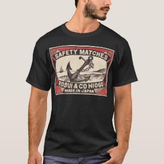 Vintages Anker-Streichholzschachtel-Logo T-Shirt