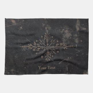 Vintages antikes Goldblatt-Leder Handtuch