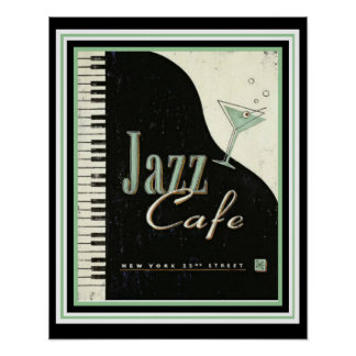 Vintages Anzeigen-Jazz-Café-Plakat 16 x 20 Poster