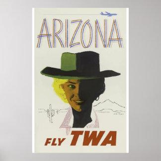 Vintages Arizona-Stadt-Reise-Klassiker-Plakat Poster