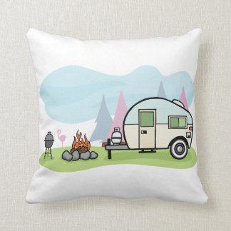 Vintages Art-Camper-Kissen Zierkissen