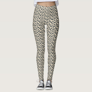 Vintages Art-Schläger-Halloween-Muster Leggings