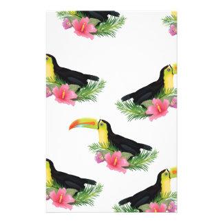 Vintages Art Toucan Muster Briefpapier