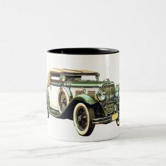 Vintages Auto Zweifarbige Tasse