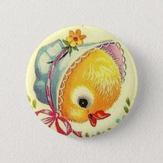 Vintages Baby-Küken-Ostern-Knopf-Button Runder Button 5,7 Cm
