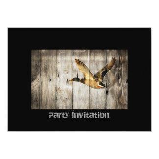 Vintages barnwood Land duckt Geburtstagseinladung 11,4 X 15,9 Cm Einladungskarte