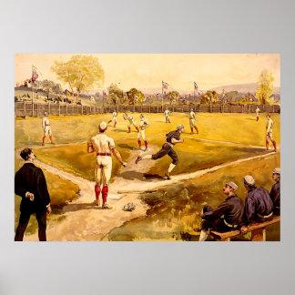 Vintages Baseball-Spiel Plakate