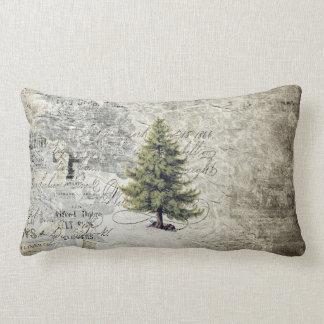 Vintages Baum-Feiertags-Kissen Lendenkissen