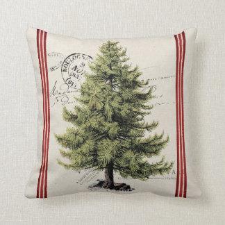 Vintages Baum-Streifen-Feiertags-Kissen Kissen