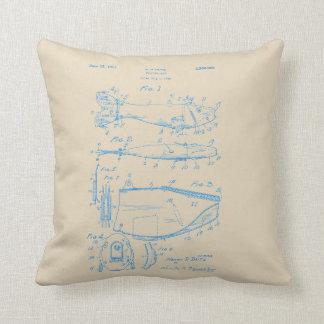 Vintages blaue Tinten-Fischen-Köder-Patent-Kissen Kissen