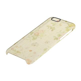 Vintages Blumen Durchsichtige iPhone 6/6S Hülle