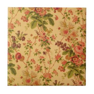 Vintages Blumen Kleine Quadratische Fliese