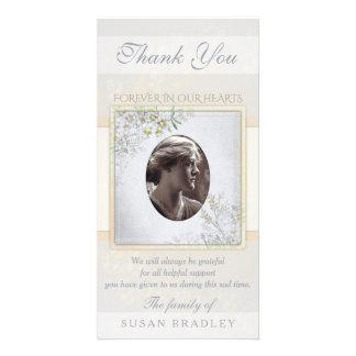 Vintages Blumen-PastellBeileid danken Ihnen Karte
