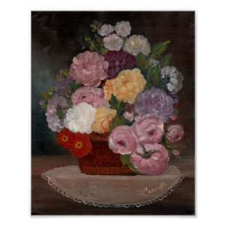 Vintages Blumen Poster