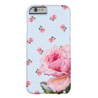 Vintages Blumen- und Punkte Barely There iPhone 6 Hülle