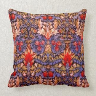 Vintages Blumen William-Morris Snakeshead Zierkissen