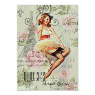 Vintages BlumenButton herauf retro Brautparty des Karte
