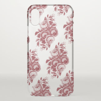 Vintages Boho Rosen-Muster Burgunders iPhone X Hülle