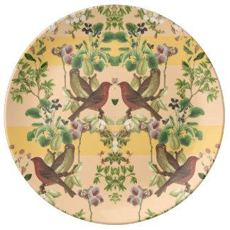Vintages botanisches teller