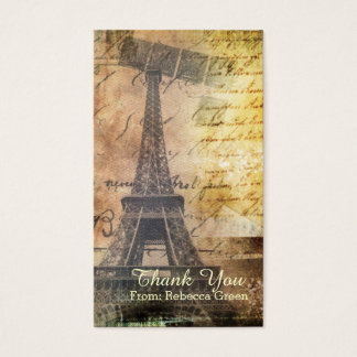 Vintages Brautparty Turms Paris Eiffel Visitenkarte