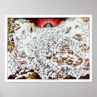 Vintages Brettspiel Nordpols (Noordpool) Poster