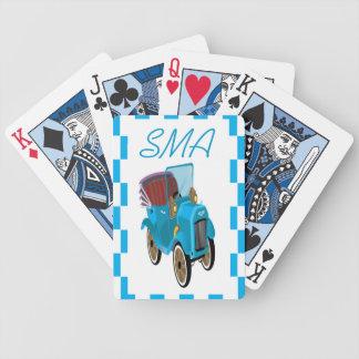 Vintages Cartoon-Auto Bicycle Spielkarten