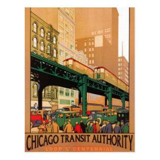 Vintages Chicago, USA - Postkarte
