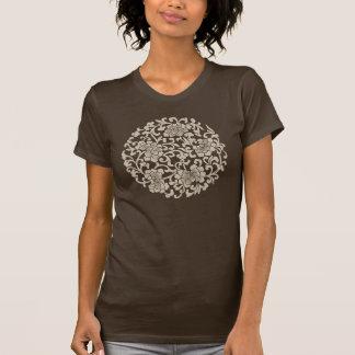 Vintages chinesisches Muster mit Pfingstrosen-T - T-Shirt