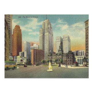 Vintages Detroit Michigan Postkarten