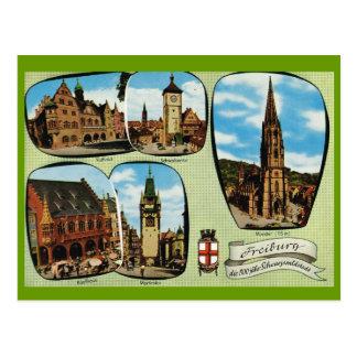 Vintages Deutschland, Freiburg, Schwarzwald Postkarte