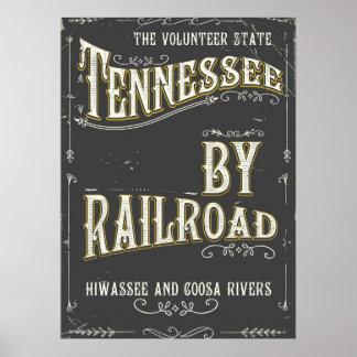 Vintages Eisenbahnplakat Tennessees USA Poster