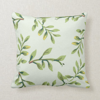 Vintages elegantes niedliches Grün-Blätter Kissen