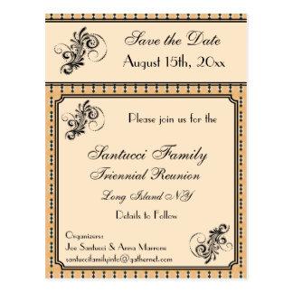 Vintages Entwurfs-Wiedersehen, Ereignis, Party Postkarte