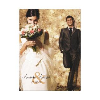 Vintages Etzeichen-Hochzeits-Foto-Andenken Leinwanddruck
