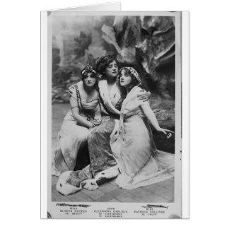 Vintages Everywoman fördernd Karte