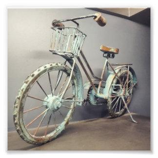 Vintages Fahrrad-Foto Fotodruck
