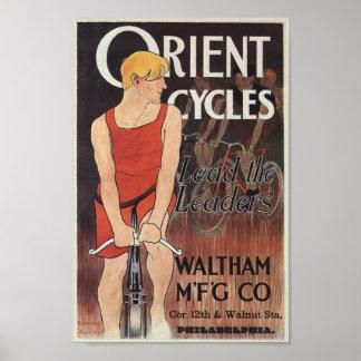 Vintages Fahrrad Orient fährt Poster