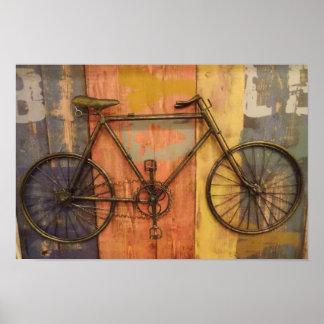Vintages Fahrrad Poster