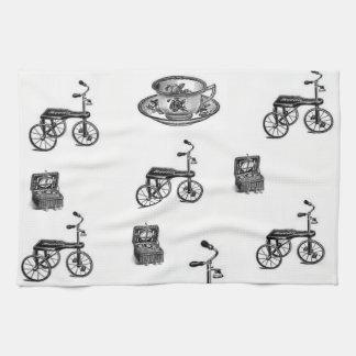 Vintages Fahrradküchen-Handtuch Geschirrtuch