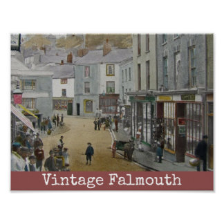 Vintages Falmouth-Plakat Poster