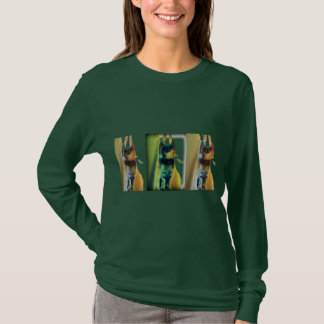 Vintages Fenster-Indigo T-Shirt